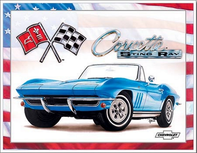 "Photo of CORVETTE ""65"" STING RAY SIGN WITH SUPER RICH COLOR AND GRAPHICS"