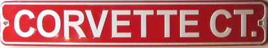 Photo of CORVETTE CT SMALL EMBOSSED STREET SIGN