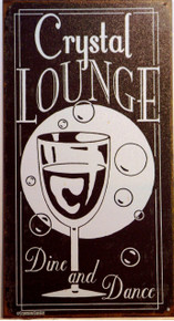 CRYSTAL LOUNGE SIGN MUTED COLORS AND GRAPHICS