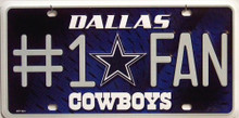 Photo of DALLAS COWBOYS #1 FAN LICENSE PLATE