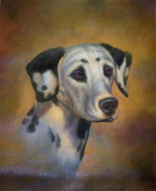 Photo of DALMATION SIZED OIL PAINTING