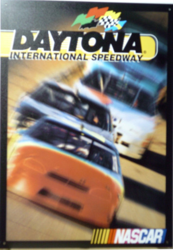 Photo of DAYTONA RACEWAY NASCAR SIGN HAS BRILLIANT COLORS AND HIGH SPEED GRAPICS THIS SIGN IS OUT OF PRINT AND WE HAVE BUT FOUR LEFT