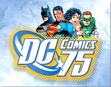 Photo of DC COMICS 75TH ANNIVERSARY  GREAT COLORS AND RICH DETAIL SHOWING BATMAN, SUPERMAN, WONDER WOMAN AND THE GREEN LANTERN