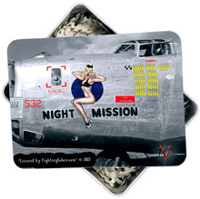 NIGHT MISSION B-17 NOSE ART VINTAGE 130 PC PUZZLE& TIN GIFT SET S/O