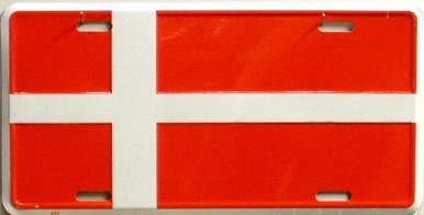 DENMARK FLAG LICENSE PLATE