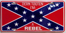 Photo of DERN TOOTIN REBEL LICENSE PLATE