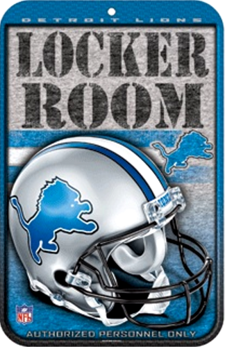 Photo of DETROIT LIONS FOOTBALL LOCKER ROOM  SIGN HAS GREAT COLORS AND GREAT DETAIL GREAT GIFT FOR THE AVID LIONS FAN'S COLLECTION