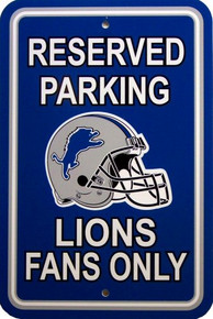Photo of DETROIT LIONS FOOTBALL FAN PARKING SIGN HAS RICH COLORS AND GREAT DETAIL GREAT GIFT FOR THE AVID LIONS FAN'S COLLECTION
