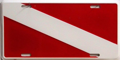 Photo of DIVER FLAG LICENSE PLATE