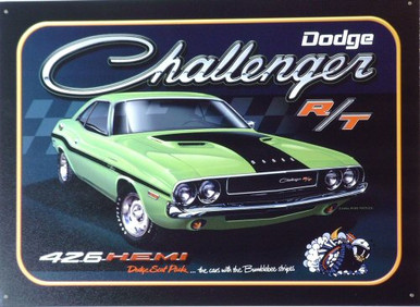 Photo of DODGE CHALLENGER R/T, GREEN,  SIGN GREAT ADD WITH RICH COLOR AND ATTENTION TO DETAILS