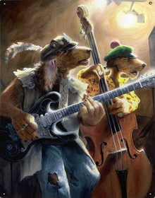 TRIPPLETON BROTHERS DOG BAND VINTAGE METAL SIGN S/O