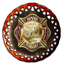 COLORS OF REMEMBRANCE 911 FIREFIGHTER GLASS ORNAMENTS S/O