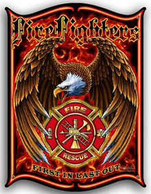 FIREFIGHTER EMBLEM METAL SIGN S/O