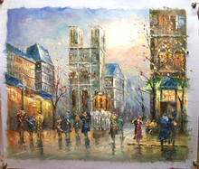 Photo of DOWNTOWN CATHEDRAL MEDIUM SIZED OIL PAINTING