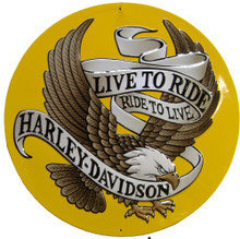 Photo of EAGLE LIVE TO RIDE DIE-CUT & EMBOSSED, GREAT DETAILS, SUPER EMBOSSING AND HARLEY COLORS