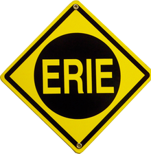 Photo of EIRE RAILROAD PORCELAIN TRAIN SIGN