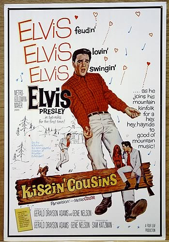 Photo of ELVIS KISSIN COUSINS MOVIE POSTER SIGN HAS GREAT COLOR AND SHARP DETAILS. THIS SIGN IS OUT OF PRINT BUT WE STILL HAVE SEVERAL IN STOCK