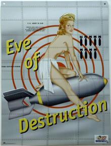 Photo of EVE OF DESTRUCTION NOSE ART BOMBER SIGN GREAT COLOR AND DETAILS
