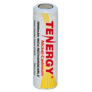 Tenergy AA 1000mAh NiCd Flat Top Rechargeable Battery | Item 20102