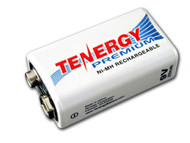Tenergy PREMIUM 9V  Rechargeable Battery 200mah NiMH
