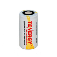 Tenergy 1.2V 3500mAh NiCd Rechargeable C Flat Top Battery #20401