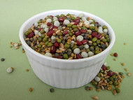 TERRE'S BEAN Certified Organic non-GMO Sprouting Seeds MIX 2 OUNCE SAMPLE Certified Organic ADZUKI, GREEN PEA, LENTILS, MUNG, HARD WHEAT, FENUGREEK