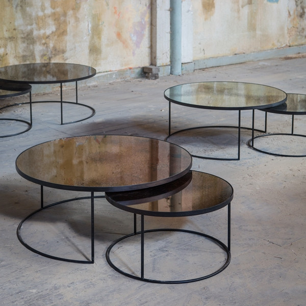 Round Nesting Coffee Table Sets Clutch Modern
