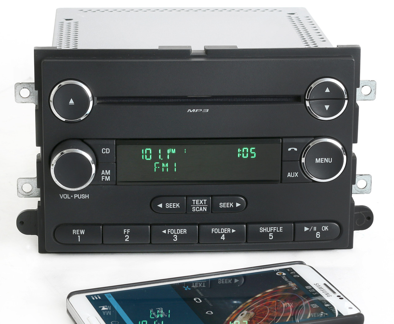 ford mustang 2008 09 am fm mp3 cd player radio w bluetooth. Black Bedroom Furniture Sets. Home Design Ideas