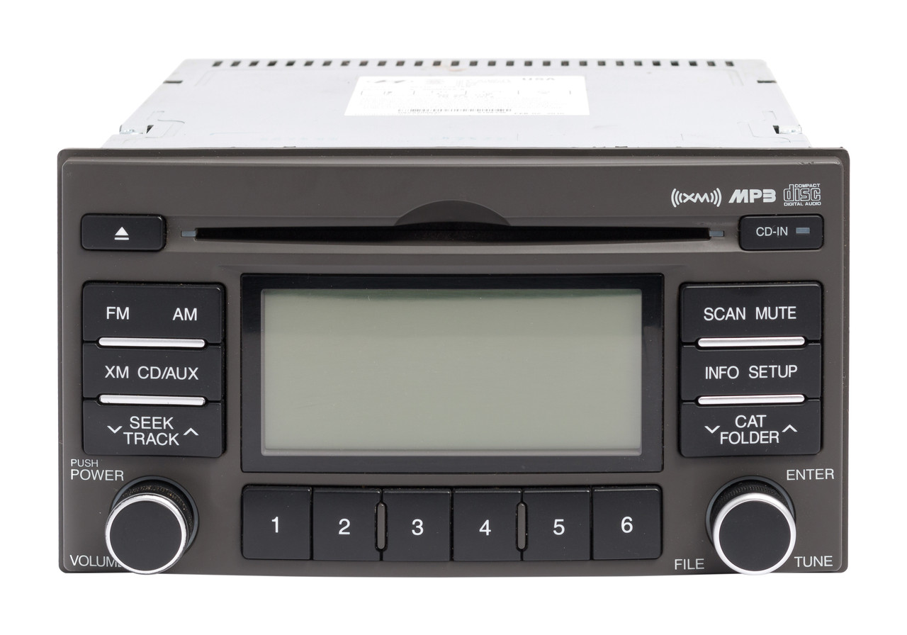 hyundai accent 2007 2011 oem radio am fm mp3 cd player w satellite rh 1factoryradio com