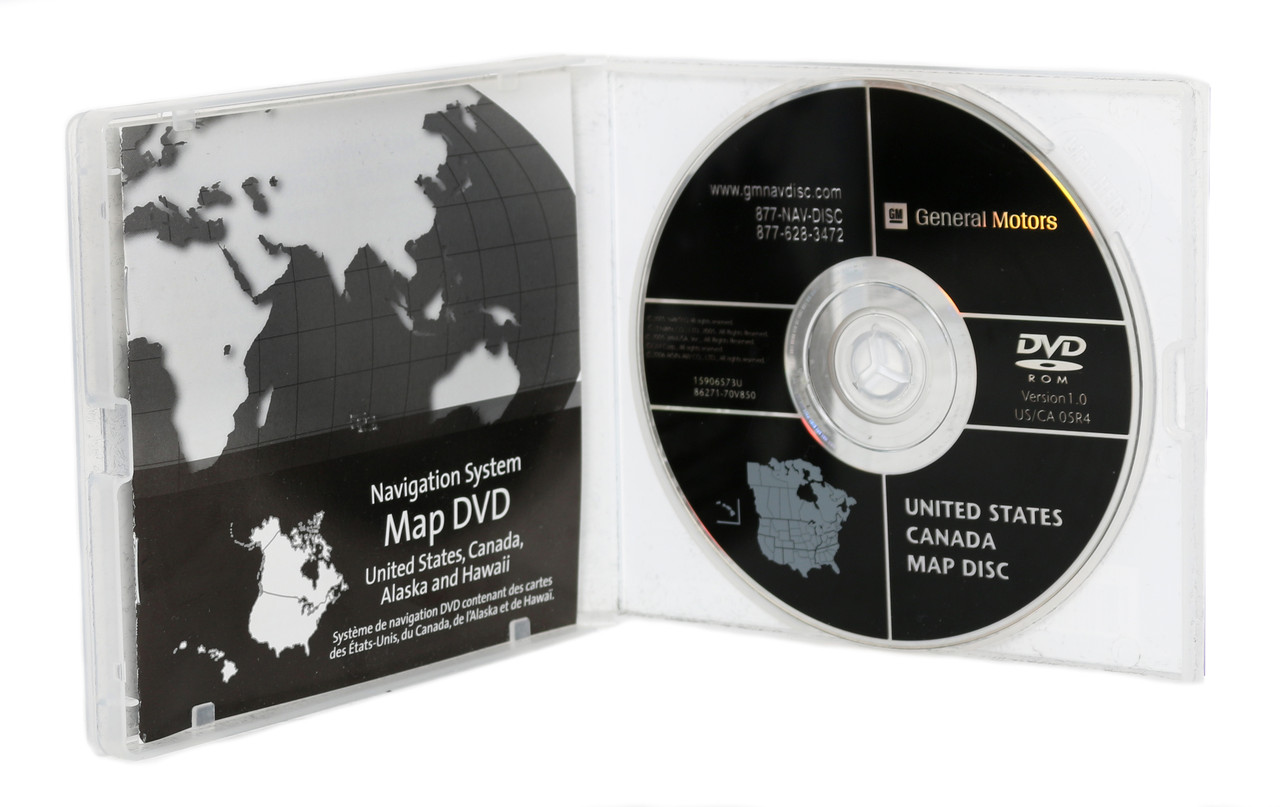 2002-2009 Buick Chevy GMC Hummer Saab Navigation CD MAP DISC - PN ...