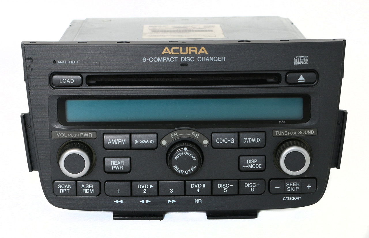 acura mdx 2005 2006 am fm xm radio 6 disc cd player w. Black Bedroom Furniture Sets. Home Design Ideas