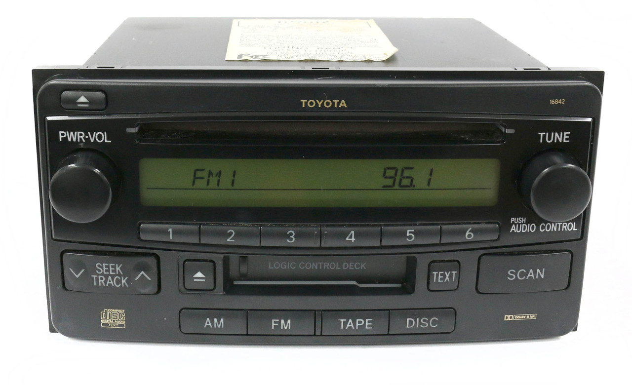 toyota 2003 2007 echo highlander am fm radio single cd cassette rh 1factoryradio com