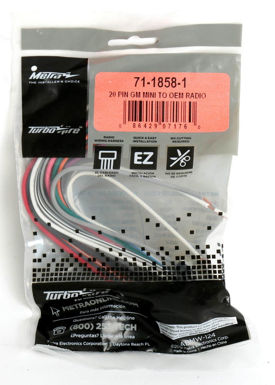 metra turbowire oem wire harness for gmc chevy buick 1987. Black Bedroom Furniture Sets. Home Design Ideas