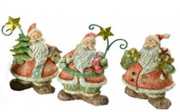 Handcrafted Santa - Set of 3