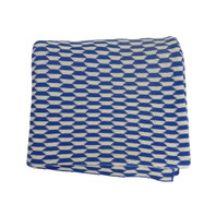 Geo Zoe Throw Knit  Blue