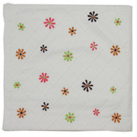 Daisy Dot White Cushion Cover
