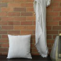 Capri Double Sided Linen Throw Natural/White 125X180cm
