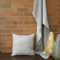 Capri Double Sided Linen Throw Grey/White 125X180cm