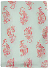 Paisley Table Cloth Red   Cotton