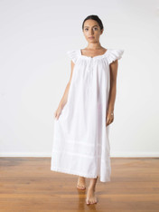 Mercy Cotton Nightdress White