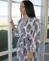 Amelie Grey in White Kimono