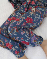 Lounge Pants - Bird Print Indigo Blue Pack of 3: S, M, L (out of stock, pre-order open)