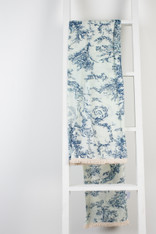 Toile Blue Print Scarf/Sarong Pack of 2