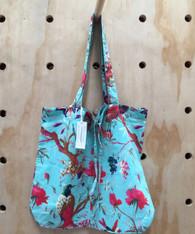 Bird Print Aqua Lightweight Bag Pack of 2 (OUT OF STOCK)
