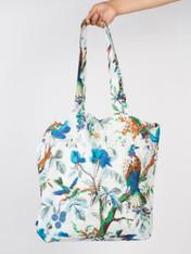 P/2 Bags - Bird Print Teal