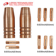 MIG Torch Consumables 10pc Nozzles and Tips MCS10 for MIG175 and MIG140