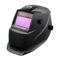 Welding Helmet Onyx Black Solar Power Auto Darkening Adjustable  - Perfect for Plasma Cut Gouge, ARC TIG MIG Weld & Grinding