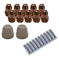 Copy of Lotos LCS22 Plasma Cutter Consumables Sets for Brown Color LT5000D and Brown Color CT520D, 22 Pieces