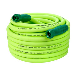 "Flexzilla Garden Hose with SwivelGrip™ Connections, 5/8"" x 75', 3/4"" - 11 1/2"" GHT Fittings 