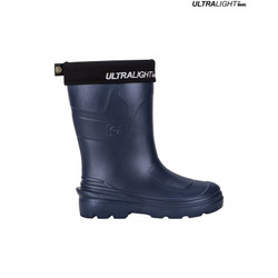 Ultralight Ladies Rubber Rain Boots, Navy Blue